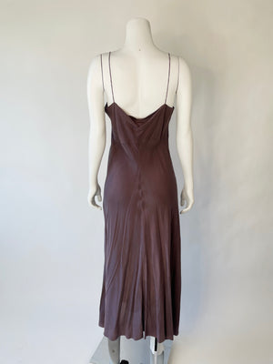 Y2K Iridescent Silk Slip Dress