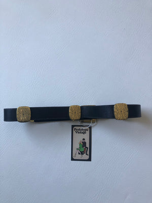 Black & Gold Brighton Belt - M/L