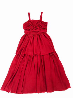 Chiffon Tiered Party Dress - S