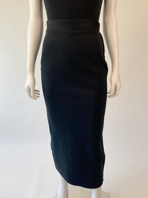 Black Stretchy Limited Midi Pencil Skirt