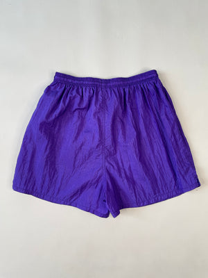 Soft Nylon Purple Drawstring Shorts