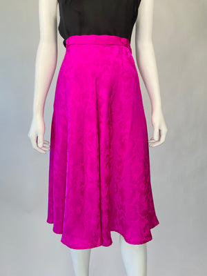 Hot Pink Silk Skirt