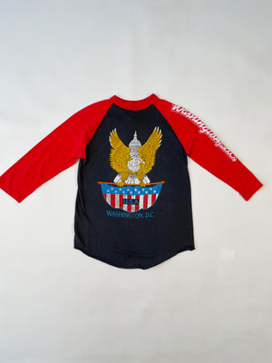 Thrashed Washington DC Baseball Tee