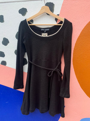 90's Betsey Johnson Black Knit Dress - S