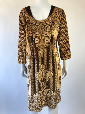 Soft Brown Velvet 1970's Tunic