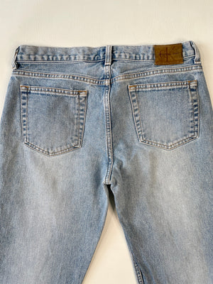 Cropped 1990's Calvin Klein Faded Low-Rise Jeans