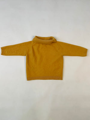 Kiddo Mustard Cashmere Turtleneck