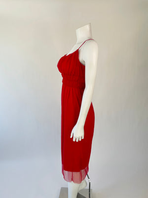 Y2K Red Vivienne Tam Slip Dress