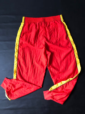 Red & Yellow Liz Wear Track Pants - M