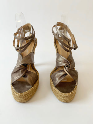 JPG Soft Bronze Leather Espadrilles