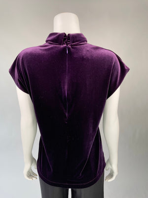Purple Velvet Mock Turtleneck Top