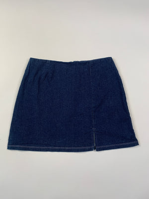 Y2K Stretchy Denim Micro Mini Skirt - S