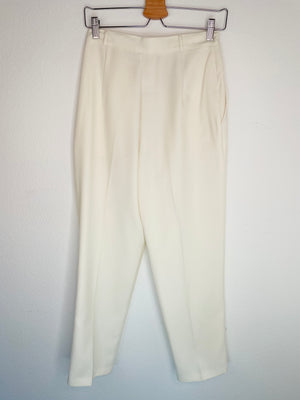 1980's Christy Girl Ivory Pleated Slacks