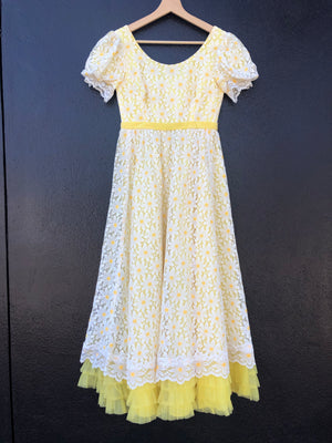 Banana Yellow Daisy Dress - S