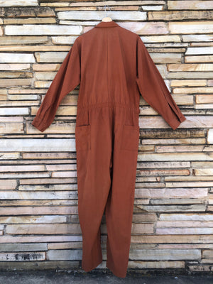 70's Rust Belted Coveralls - XL