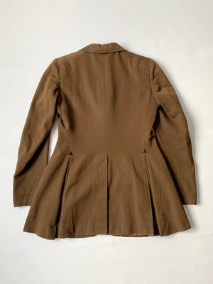 1940's Brown Blazer w/ Pointy Lapels - M