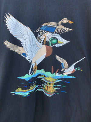 80's Flying Mallards Wildlife Tee - L