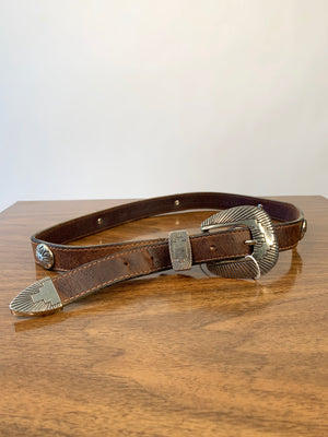 Brown Concho Belt