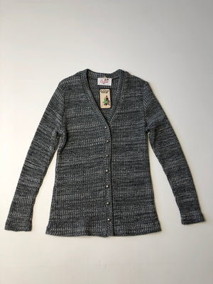 60's Lurex Cardigan with Chrome Buttons