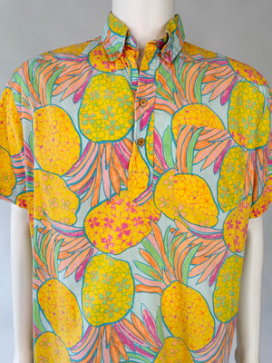 Pineapple Print Batik Hot Tropics Shirt