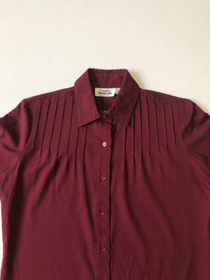 Lovely Maroon Blouse - S/M
