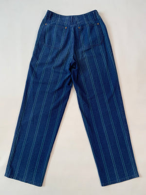 Blue Striped Trousers