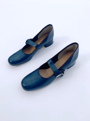 Navy Mary Janes