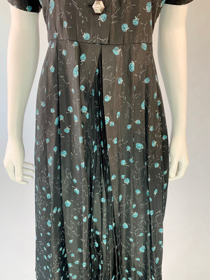 Mid-Century Blue Berry Dress
