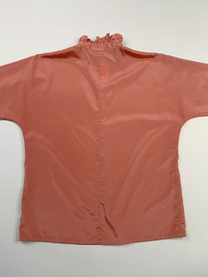 Dusty Pink Ruffle Blouse - L