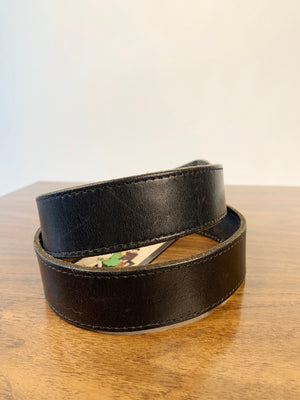 Black Engraved Belt
