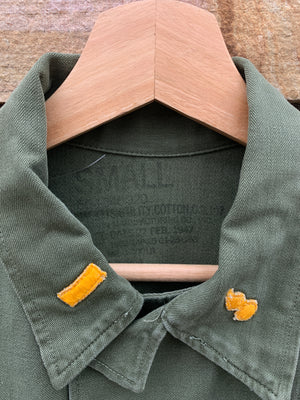 Mid-Century Patched Army Shirt Jacket - S