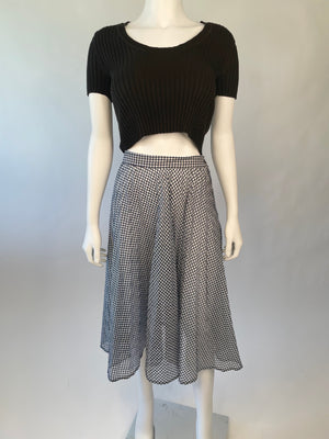 Mid-Century Sheer Gingham Skirt