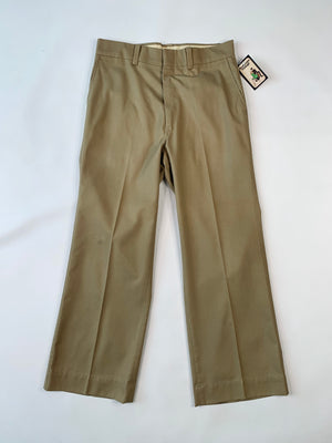 Beige Cotton Slacks