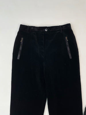 Escada Black Velvet Stirrup Pants