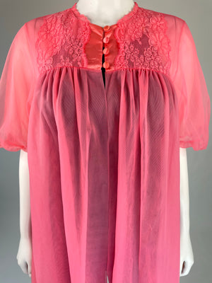 Pink Sheer Nylon Robe