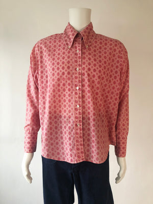 70's Rose Pointy Collar Shirt