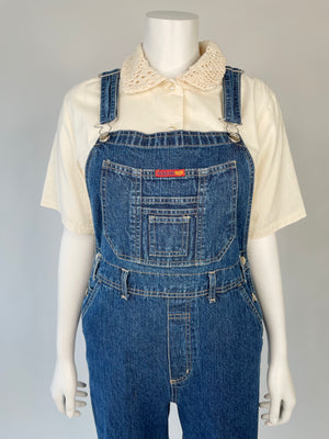 1990's Dark Wash Denim Overalls