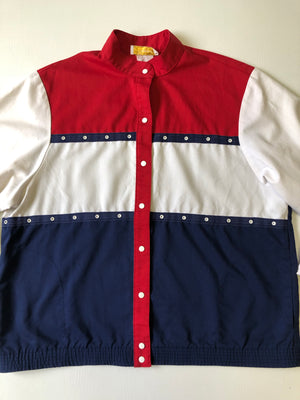 Red, White & Blue Snap Jacket - XL
