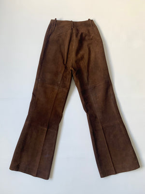 1960's Brown Suede Flares - XS