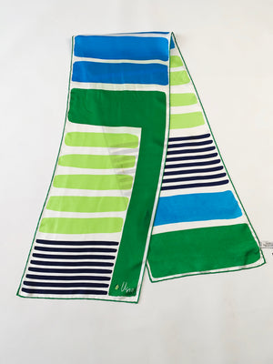 Green Striped Vera Scarf
