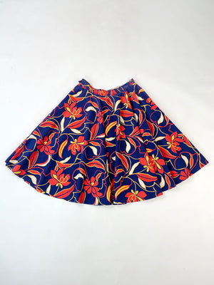 1960's Primary Floral Skirt