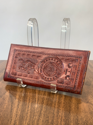 Stamped Tooled-Leather Cactus Wallet