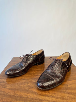 Ferragamo Croc Oxfords
