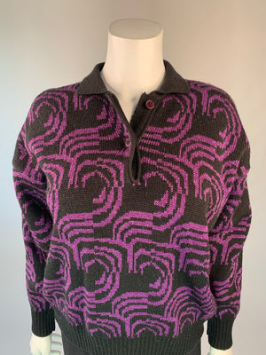 1980's Purple Lurex Pullover Sweater