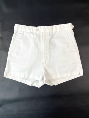 1980's White Flat-Front Shorts