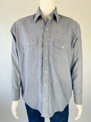 Classic Chambray Pearl Snap
