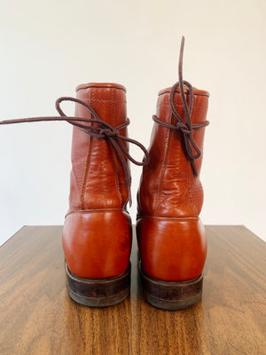 Cognac Leather Ropers