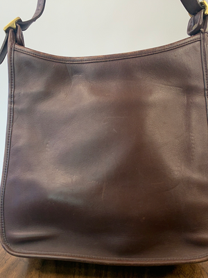 Brown Soft Leather Coach Bag