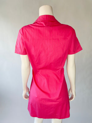 Y2K Pink Pinstripe Dickies Dress