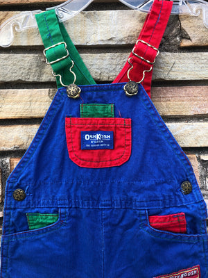 Kiddo Primary Oshkosh B'Gosh Overalls - 18 M